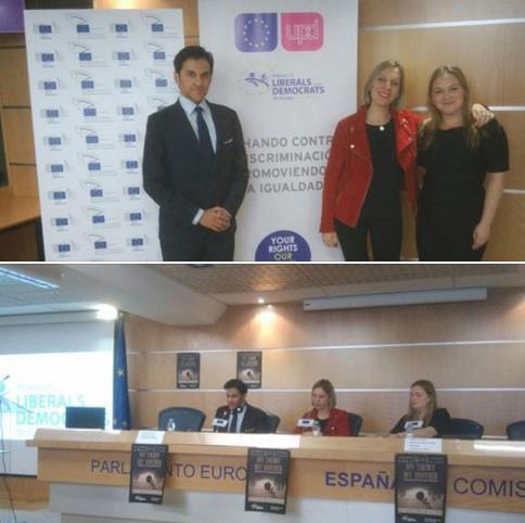 HSC's Dr Dwayne Menezes, Beatriz Becerra MEP and Danielle Turkov.